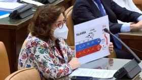 La diputada talaverana Carmen Riolobos, este jueves en el Congreso de los Diputados