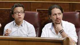 Iglesias y Errejón, cuando estaban juntos en Podemos.