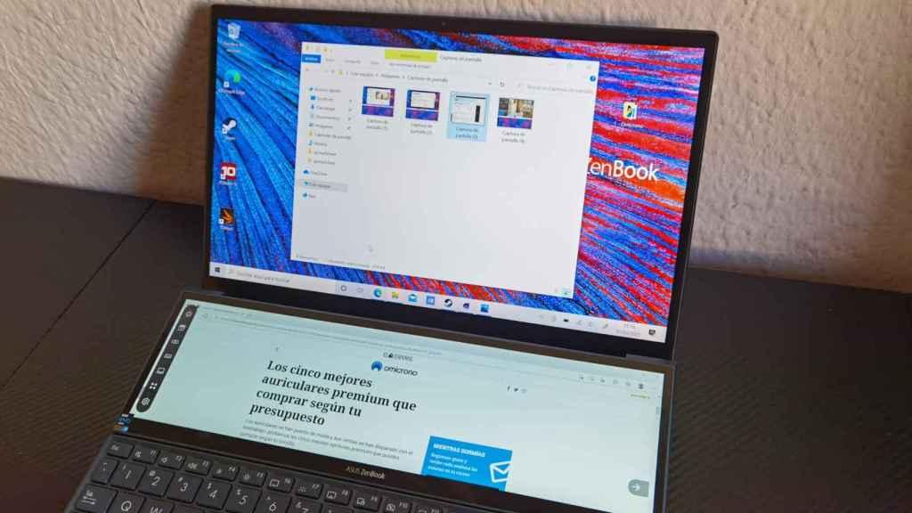 Las dos pantallas del Asus ZenBook Duo nos permiten hacer más