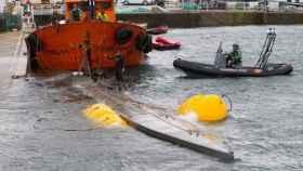 Narcosubmarino hallado en diciembre de 2019 en Galicia.