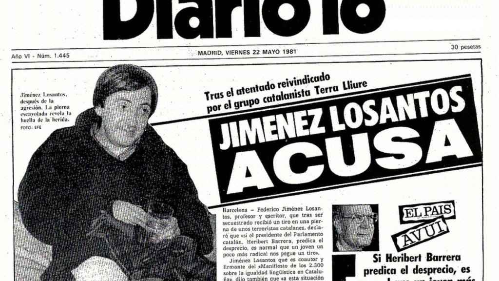 Portada de Diario 16 con Jiménez Losantos convaleciente de su atentado.