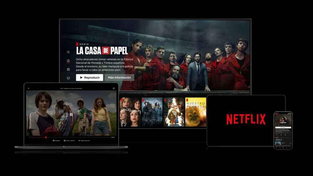 Netflix en múltiples dispositivos.