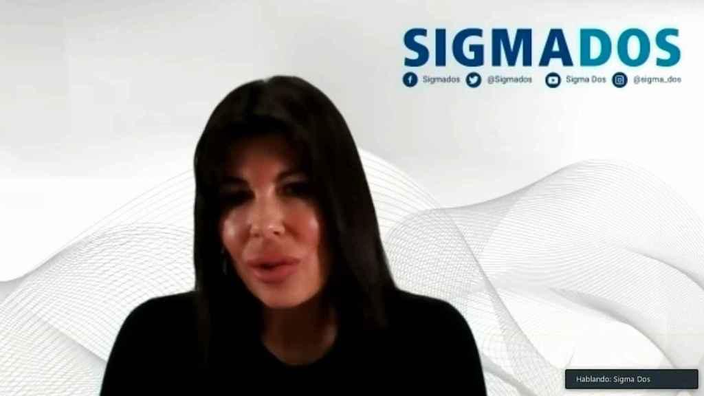 La directora general de Sigma Dos, Rosa Díaz, durante su presentación por videoconferencia.