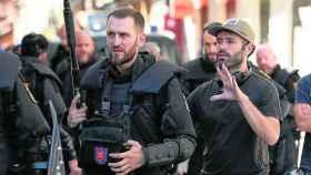 Sorogoyen dirigiendo 'Antidisturbios'.