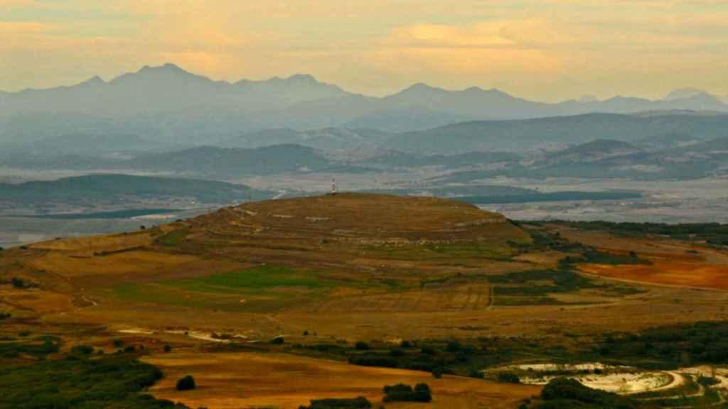 Vista aérea de Monte Bernorio.