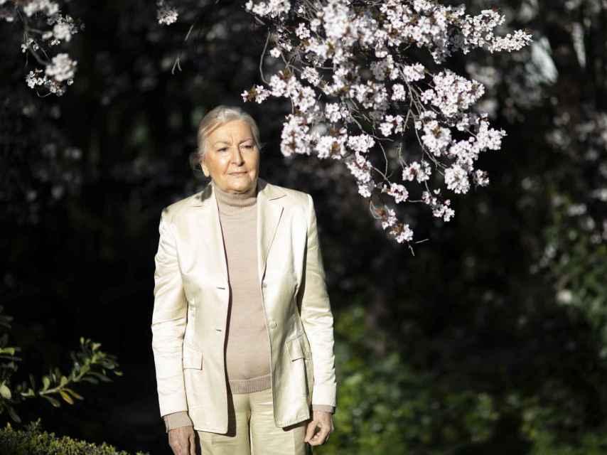 María España Suárez, en el jardín de La Dacha, en Majadahonda.
