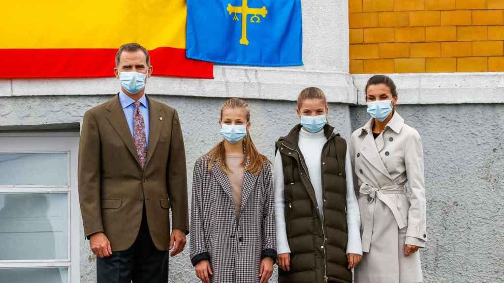 La Familia Real en su visita al Pueblo Ejemplar.