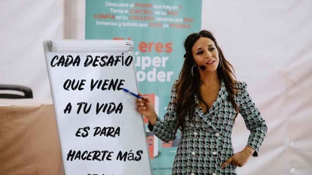 Alicia Peña, en su trabajo como coach.