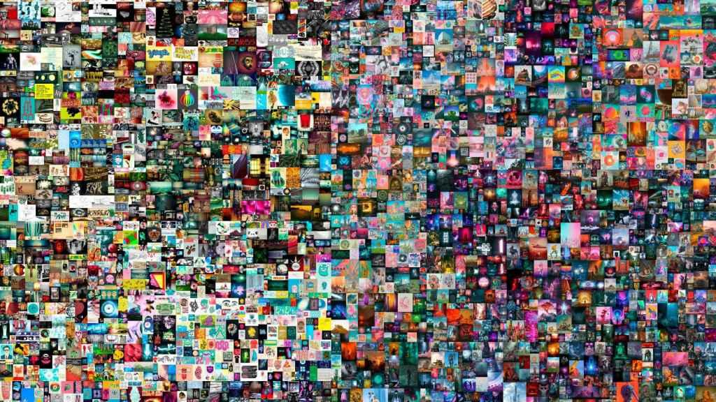 Fotografía cedida por la casa de subastas Christie's donde se muestra la obra 'Everydays: The First 5000 Days (Todos los días: los primeros 5000 días)