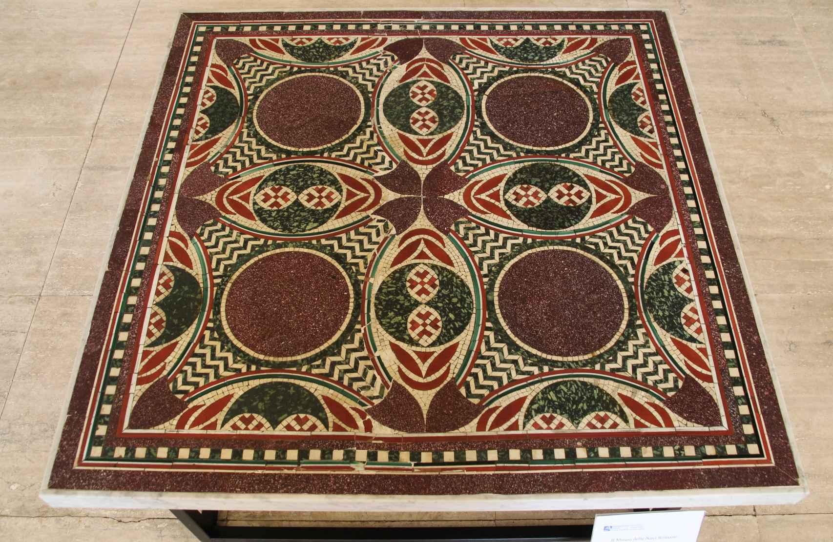 Uno de los mosaicos que se conservan en la actualidad.