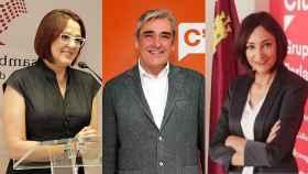 Isabel Franco, Francisco Álvarez y Valle Miguélez, los tres diputados que evitan la moción en Murcia y rompen Ciudadanos.