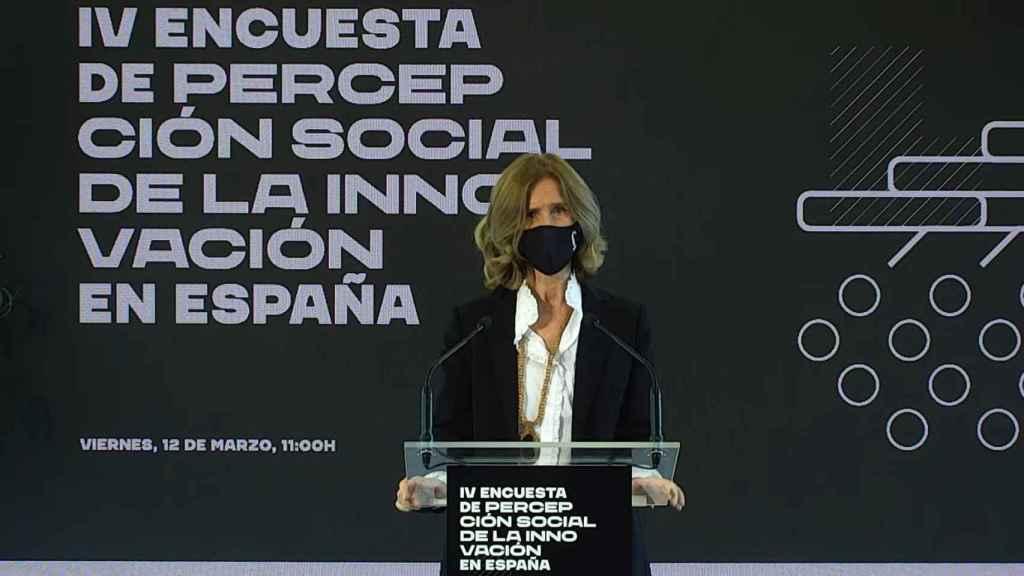 Cristina Garmendia, presidenta de la Fundación Cotec, durante la presentación.
