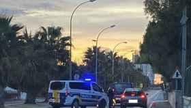 Uno de los cierres perimetrales en la ciudad de Alicante.