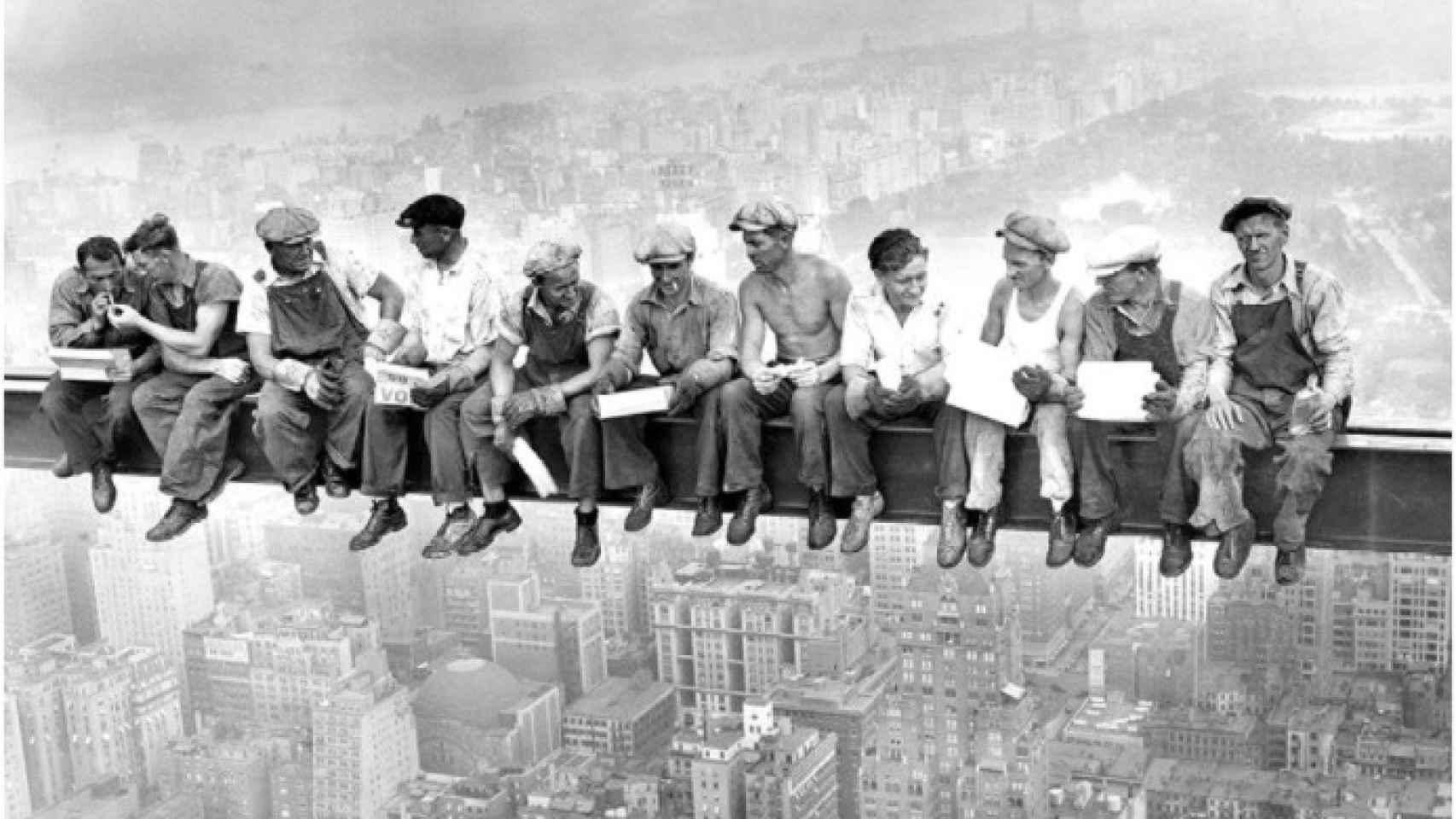 Construcción del Rockefeller Center.
