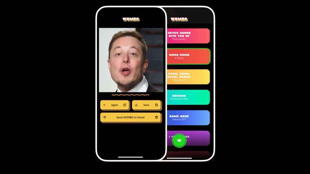 Wombo es una app que permite crear vídeos de personas cantando