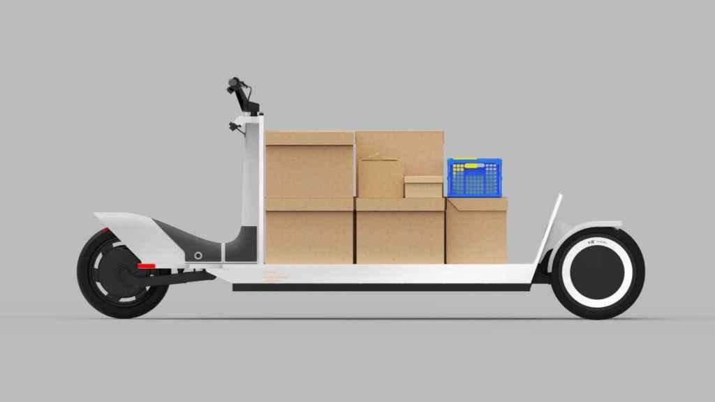 Este trineo eléctrico permite transportar cualquier objeto.