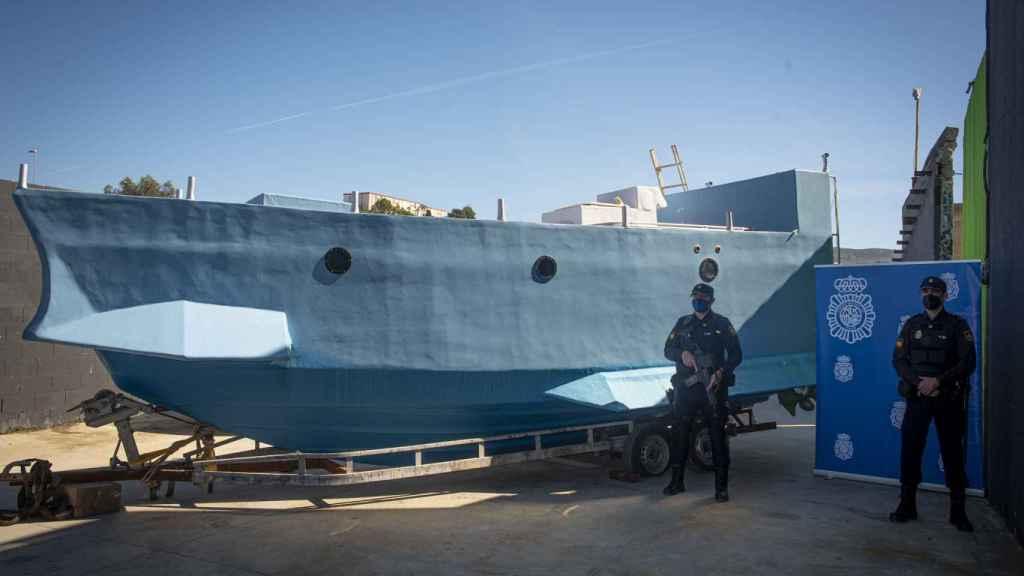 Narcosubmarino que se ha incautado en Málaga.