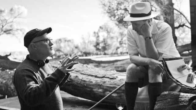 David Fincher en el rodaje de 'Mank'