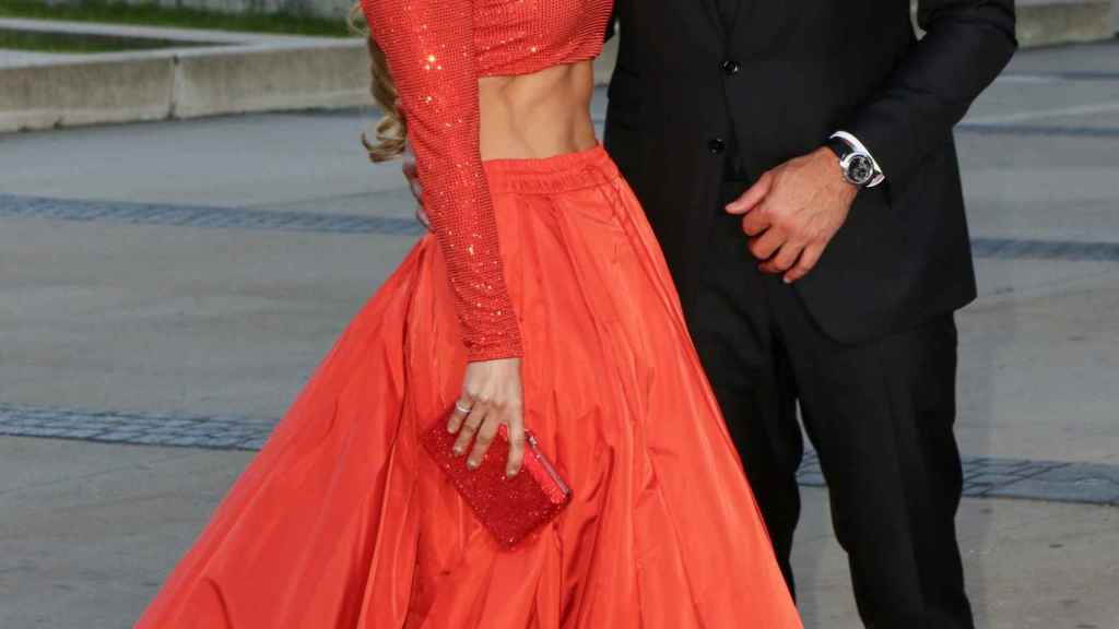 La cantante Jennifer Lopez y el exjugador de béisbol Alex Rodriguez.