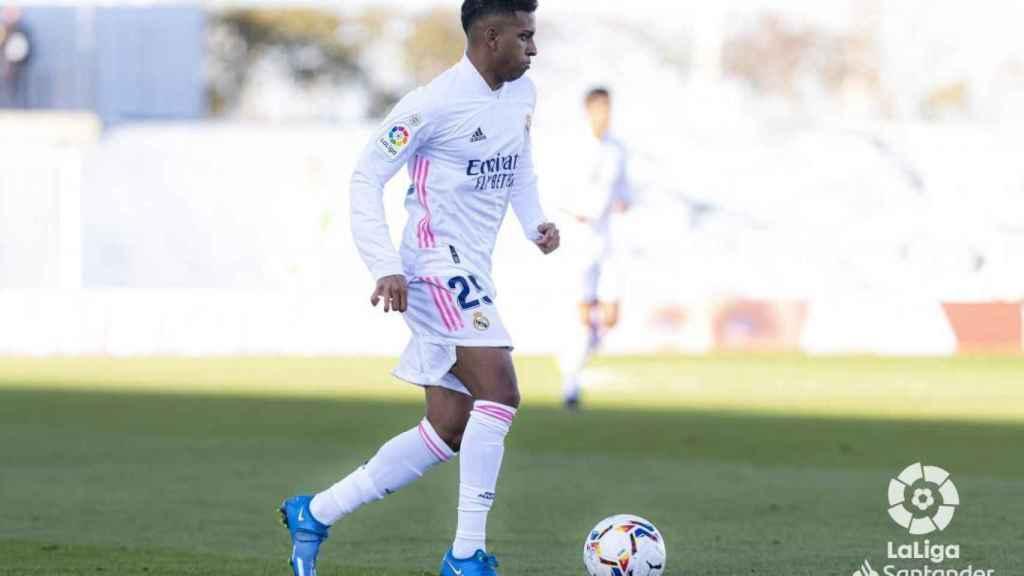 Rodrygo Goes, en un momento del Real Madrid - Elche de La Liga
