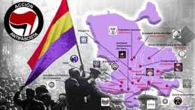 Este es el mapa de los principales grupos dentro de la ciudad de Madrid