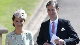 Pippa Middleton junto a su marido en una imagen de archivo.