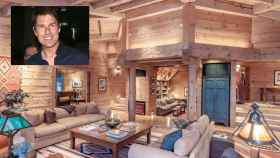 Tom Cruise en montaje de JALEOS junto a una imagen del salón de su casa en Colorado.