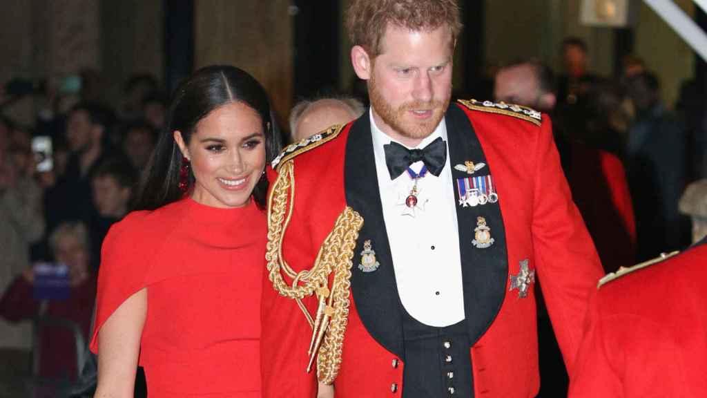 Meghan Markle y el príncipe Harry en el Festival de Música Mountbatten.