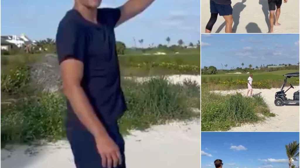 Tom Brady y Beckham en Las Bahamas