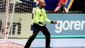 Alfredo Quintana celebra un triunfo con Portugal