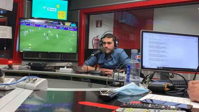Jorge Calabrés, en los estudios de Radio MARCA