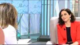 Isabel Díaz Ayuso este lunes en Telecinco.