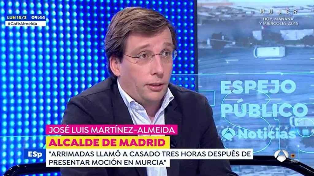 Martínez Almeida asegura Cs ya estaba recogiendo firmas para una moción de censura en Madrid