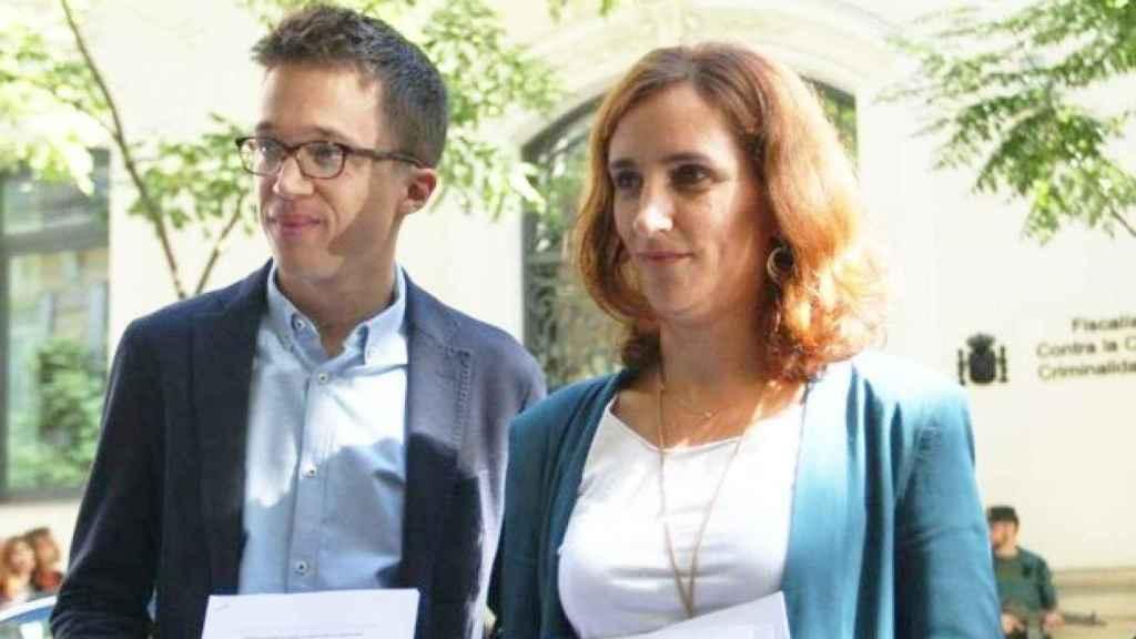 El líder de Más Madrid, Íñigo Errejón, y la candidata del partido a la Comunidad de Madrid, Mónica García.