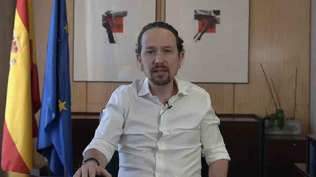 Pablo Iglesias al anunciar que deja la Vicepresidencia del Gobierno.