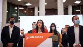 La líder de Cs, Inés Arrimadas, este lunes.