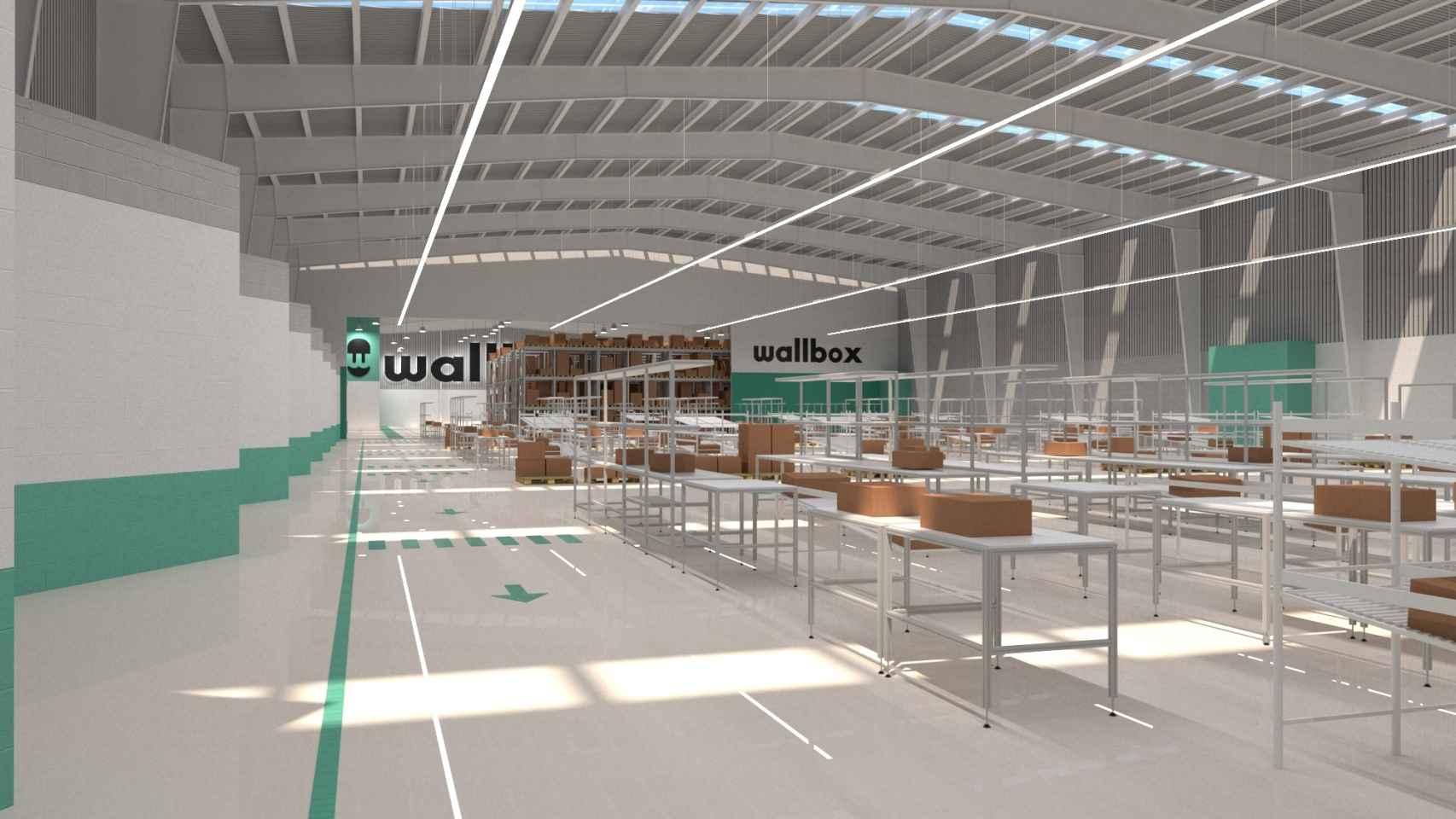 Recreación de la nueva fábrica de Wallbox en Barcelona.