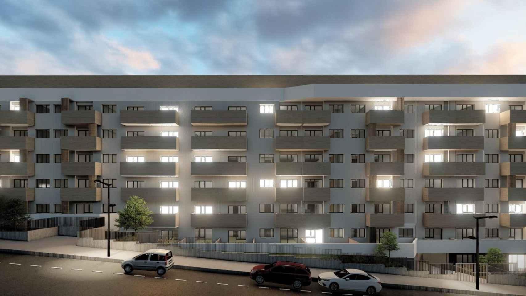 Infografía del proyecto Build to Rent que prepara Ten Brinke en Valdemoro.