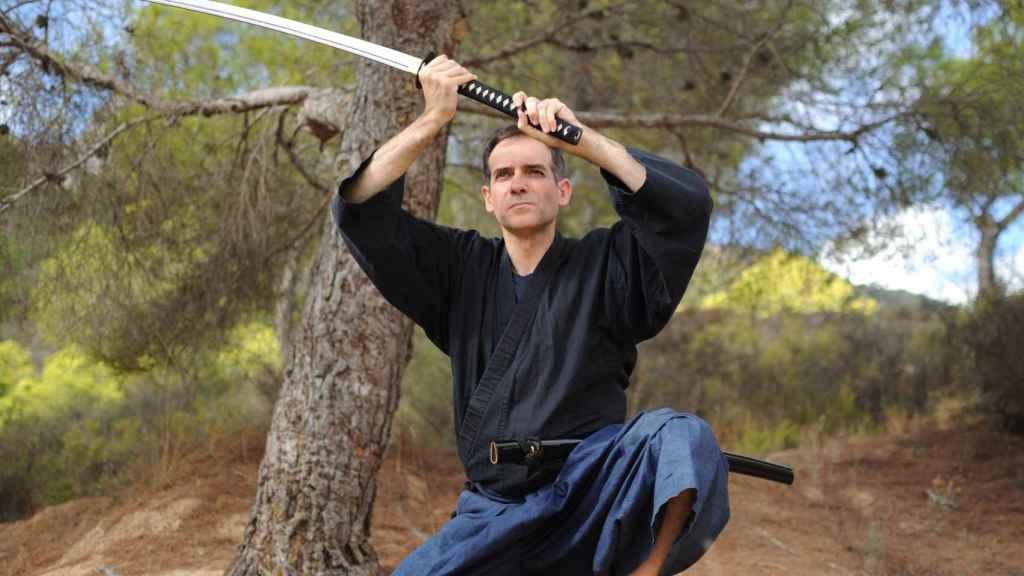 El samurái Juan José Liarte, portavoz de los diputados murcianos díscolos de Vox.