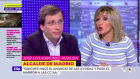 Almeida y Susanna Griso durante la entrevista en 'Espejo Público'.