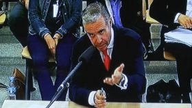 El exconcejal del PP, Roberto Fernández, durante el juicio por la trama Gürtel.
