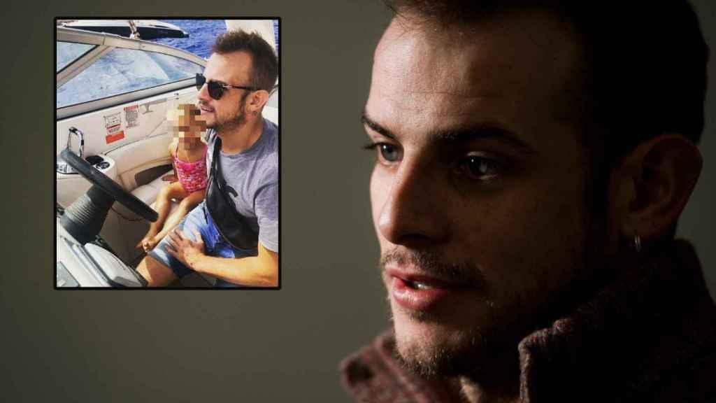Álex Casademunt junto a su hija en una foto de redes en un montaje de JALEOS.