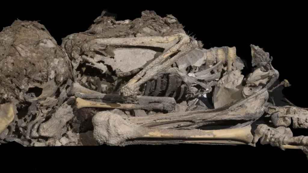 Niño momificado hace alrededor de 6.000 años.