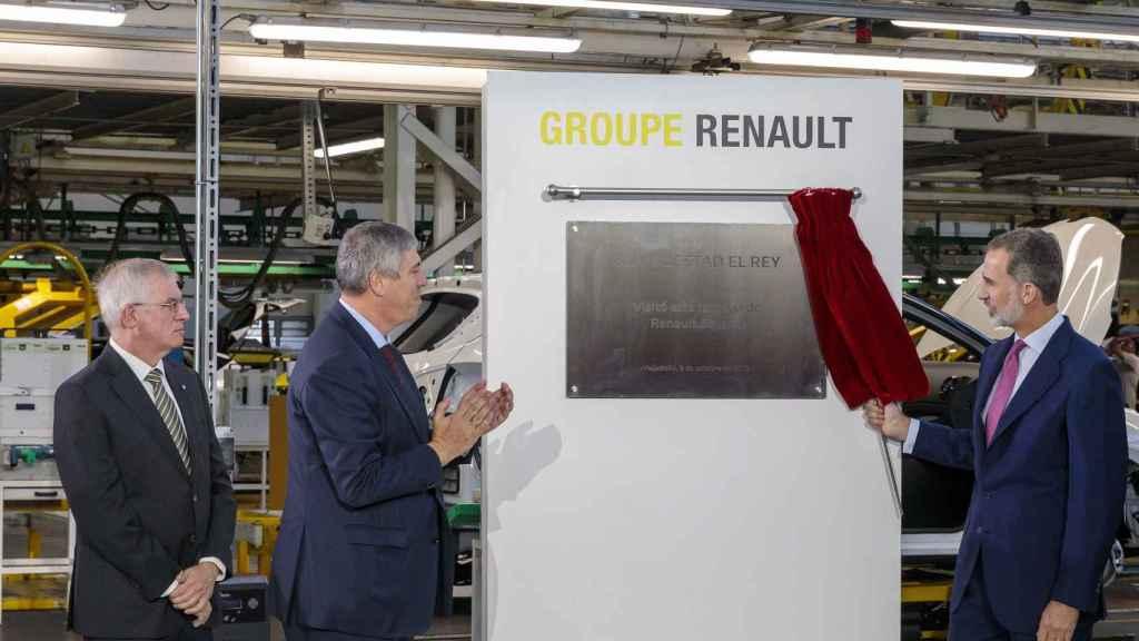 El Rey Felipe ya visitó Renault en Valladolid en el año 2019.