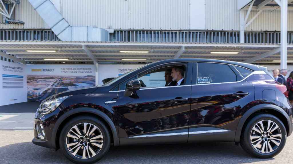 En la anterior visita del Rey, el monarca tuvo la oportunidad de conducir un coche.