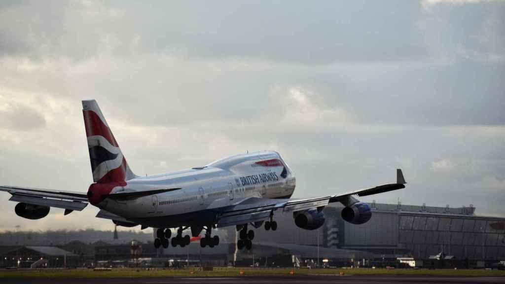 Aterrizaje de un Boeing 747 de British Airways