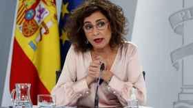 La portavoz del Gobierno, María Jesús Montero, en rueda de prensa tras reunión del Consejo de Ministros.
