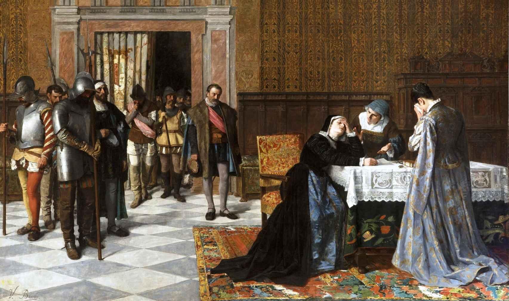 Doña María Pacheco de Padilla después de Villalar.