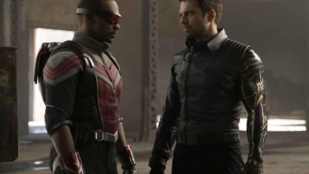 Anthony Mackie y Sebastian Stan son Falcon y el Soldado de Invierno.