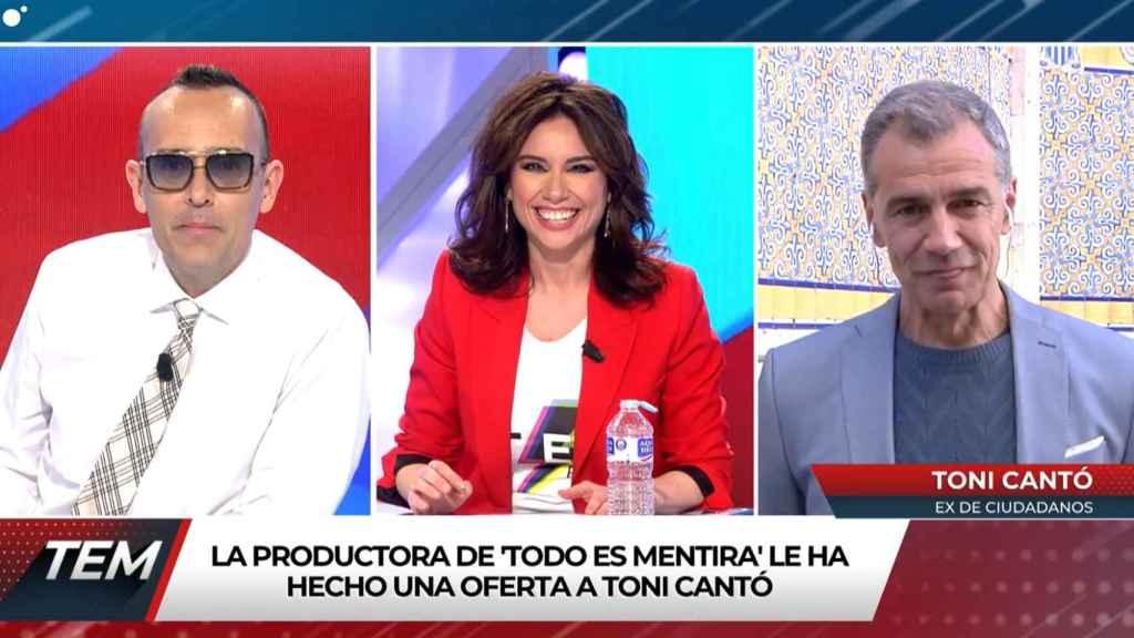 Risto Mejide, Marta Flich y Toni Cantó en 'Todo es mentira'.